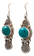 Load image into Gallery viewer, Navajo Native American Kingman Turquoise Earrings by Calladitto SKU232130