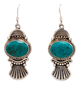 Navajo Native American Kingman Turquoise Earrings by Calladitto SKU232130