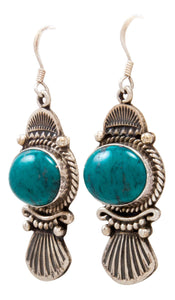 Navajo Native American Kingman Turquoise Earrings by Calladitto SKU232131