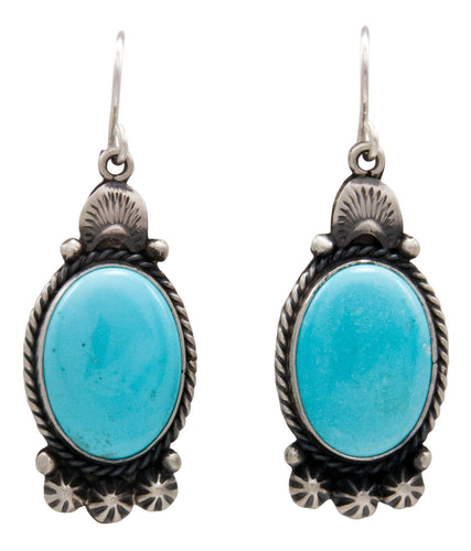 Navajo Native American Kingman Turquoise Earrings by Calladitto SKU232134