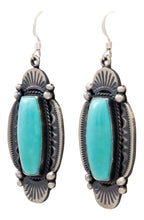 Load image into Gallery viewer, Navajo Native American Kingman Turquoise Earrings by Calladitto SKU232136