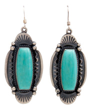 Load image into Gallery viewer, Navajo Native American Kingman Turquoise Earrings by Calladitto SKU232137