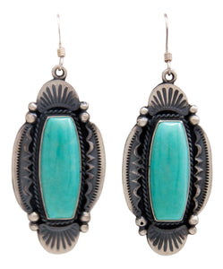 Navajo Native American Kingman Turquoise Earrings by Calladitto SKU232137