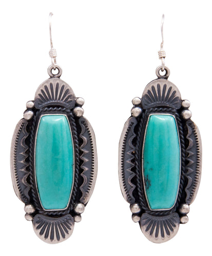Navajo Native American Kingman Turquoise Earrings by Calladitto SKU232138