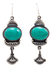 Load image into Gallery viewer, Navajo Native American Kingman Turquoise Earrings by Calladitto SKU232141
