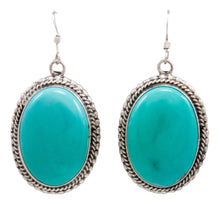 Load image into Gallery viewer, Navajo Native American Royston Turquoise Earrings by Emma Linkin SKU232147