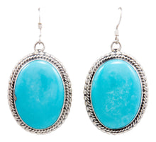 Load image into Gallery viewer, Navajo Native American Kingman Turquoise Earrings by Emma Linkin SKU232148