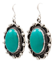 Load image into Gallery viewer, Navajo Native American Kingman Turquoise Earrings by Delbert Delgarito SKU232159