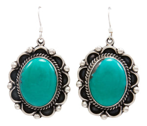Navajo Native American Kingman Turquoise Earrings by Delbert Delgarito SKU232159