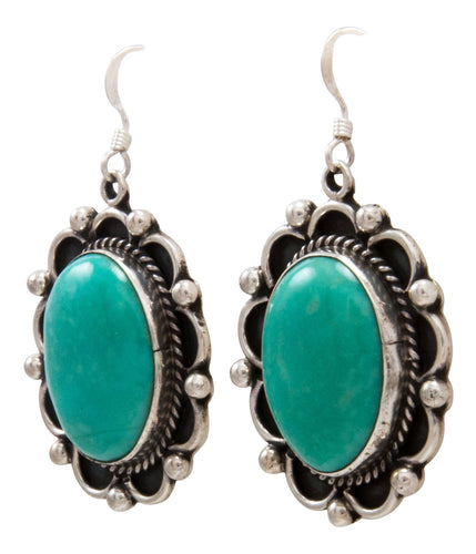 Navajo Native American Kingman Turquoise Earrings by Delbert Delgarito SKU232163