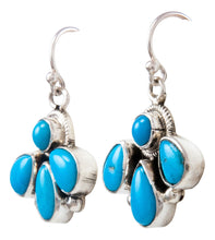 Load image into Gallery viewer, Navajo Native American Kingman Turquoise Earrings by Bobby Johnson SKU232182