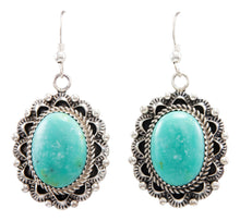 Load image into Gallery viewer, Navajo Native American Kingman Turquoise Earrings by Eric Delgarito SKU232186