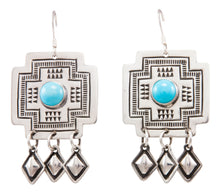 Load image into Gallery viewer, Navajo Native American Sleeping Beauty Turquoise Earrings by Harris Joe SKU232207