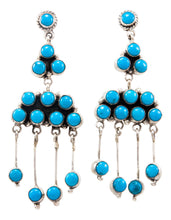 Load image into Gallery viewer, Navajo Native American Kingman Turquoise Earrings by Samantha Livingston SKU232228
