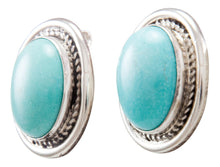 Load image into Gallery viewer, Navajo Native American Kingman Turquoise Earrings by Eddie Secatero SKU232254