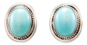 Navajo Native American Kingman Turquoise Earrings by Eddie Secatero SKU232254