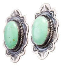 Load image into Gallery viewer, Navajo Native American Variscite Earrings by Michael and Rosita Calladitto SKU232271