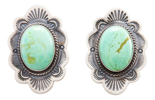 Navajo Native American Variscite Earrings by Michael and Rosita Calladitto SKU232274