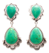 Load image into Gallery viewer, Navajo Native American Variscite Earrings by Eula Wylie SKU232276