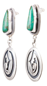 Navajo Native American Broken Arrow Turquoise Earrings by Lorenzo James SKU232281
