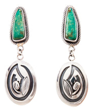 Load image into Gallery viewer, Navajo Native American Broken Arrow Turquoise Earrings by Lorenzo James SKU232281