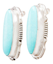 Load image into Gallery viewer, Navajo Native American Kingman Turquoise Earrings by Eddie Secatero SKU232286