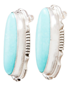 Navajo Native American Kingman Turquoise Earrings by Eddie Secatero SKU232286