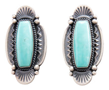 Load image into Gallery viewer, Navajo Native American Kingman Turquoise Earrings by Calladitto SKU232300