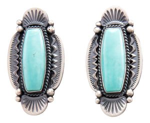 Navajo Native American Kingman Turquoise Earrings by Calladitto SKU232300