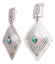 Load image into Gallery viewer, Navajo Native American Royston Turquoise Earrings by Harris Joe SKU232314