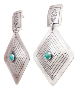 Navajo Native American Royston Turquoise Earrings by Harris Joe SKU232314