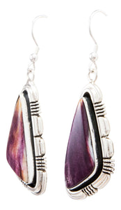 Navajo Native American Spiny Oyster Shell Earrings by Marvin McReeves SKU232322
