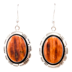 Navajo Native American Spiny Oyster Shell Earrings by Marvin McReeves SKU232323
