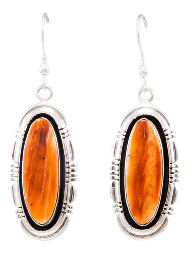 Navajo Native American Spiny Oyster Shell Earrings by Marvin McReeves SKU232324