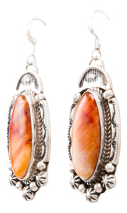 Navajo Native American Spiny Oyster Shell Earrings by Delbert Delgarito SKU232330