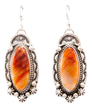 Load image into Gallery viewer, Navajo Native American Spiny Oyster Shell Earrings by Delbert Delgarito SKU232330