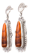 Load image into Gallery viewer, Navajo Native American Spiny Oyster Shell Earrings by Eula Wylie SKU232333