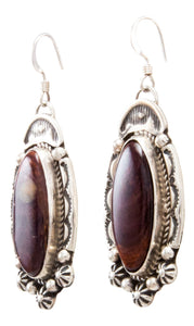 Navajo Native American Spiny Oyster Shell Earrings by Delbert Delgarito SKU232341