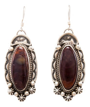 Load image into Gallery viewer, Navajo Native American Spiny Oyster Shell Earrings by Delbert Delgarito SKU232341