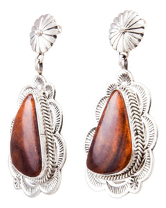 Navajo Native American Spiny Oyster Shell Earrings by Eula Wylie SKU232344