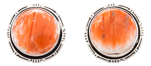 Navajo Native American Spiny Oyster Shell Earrings by Eddie Secatero SKU232358