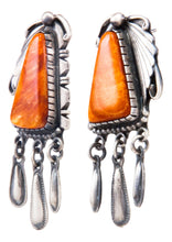 Load image into Gallery viewer, Navajo Native American Spiny Oyster Shell Earrings by Danny Clark SKU232361