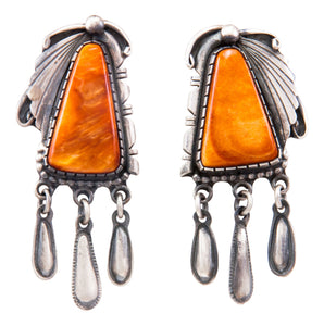 Navajo Native American Spiny Oyster Shell Earrings by Danny Clark SKU232361