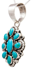 Navajo Native American Kingman Turquoise Pendant Necklace by Geraldine James SKU232436