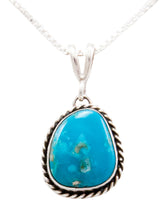 Load image into Gallery viewer, Navajo Native American Kingman Turquoise Pendant Necklace by Platero SKU232480