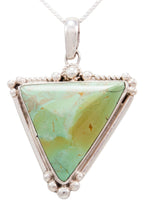 Load image into Gallery viewer, Navajo Native American Royston Turquoise Pendant Necklace by Francisco SKU232531