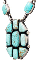 Load image into Gallery viewer, Navajo Native American Kingman Turquoise Necklace by Bea Tom SKU232567