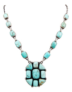 Navajo Native American Kingman Turquoise Necklace by Bea Tom SKU232567