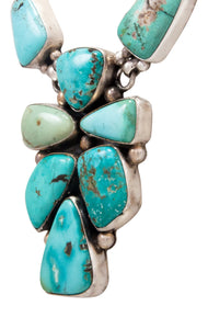 Navajo Native American Blue Moon Turquoise Necklace by Bea Tom SKU232568