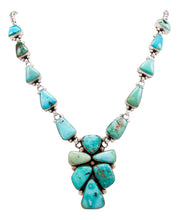 Load image into Gallery viewer, Navajo Native American Blue Moon Turquoise Necklace by Bea Tom SKU232568